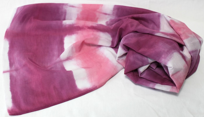 gift for women local made toronto canadian made shibori scarf handmade doris lee