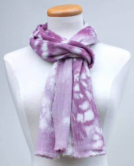 dyed by hand women's nui shibori scarf wrapped