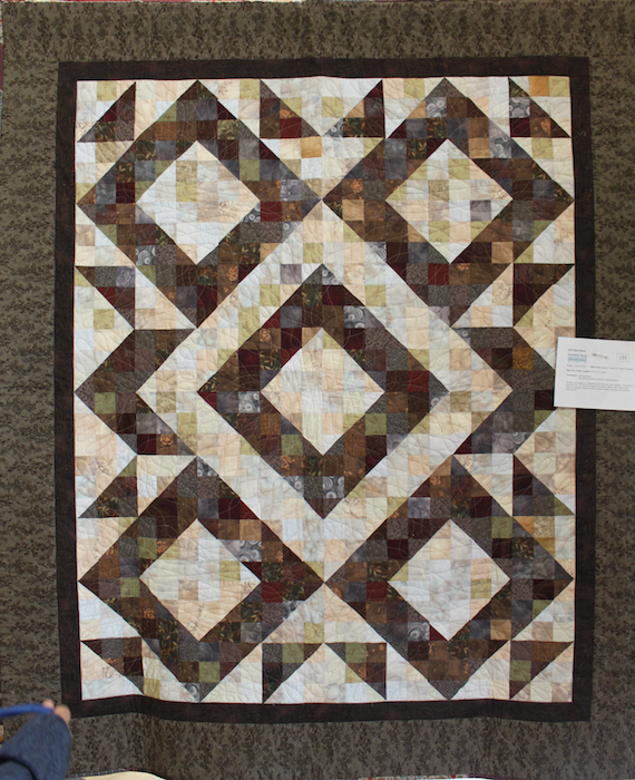 Japanese Taupe Half-Square Triangles by Coral Jewell