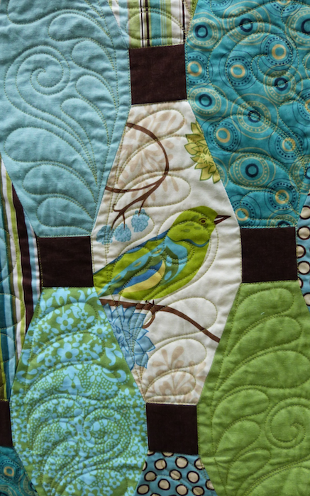 Detail of Plumage Quilt
