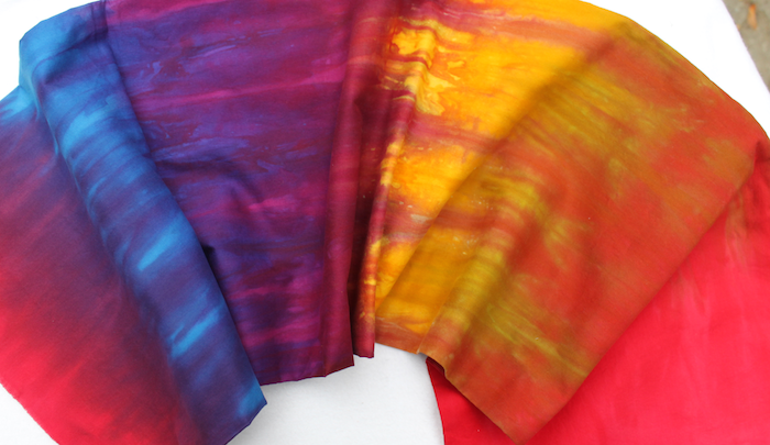 lauras hand dyed fabric