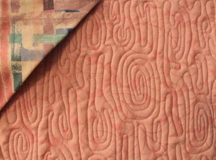 Free motion quilting wood grain