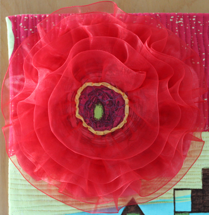 Spring in the City organza flower detail