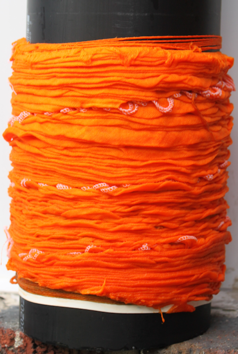Creamsicle cotton gauze scarf
