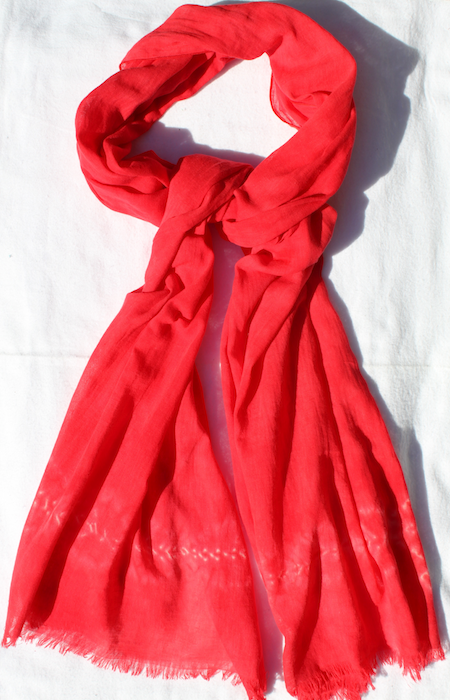 Red Nui Shibori cotton gauze