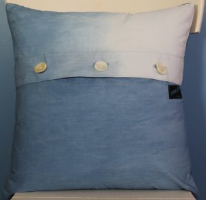 Nui Shibori Pillow back