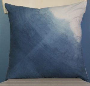Indigo Ombre angle pillow top