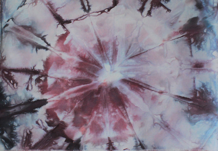 Snow dyed cotton canvas