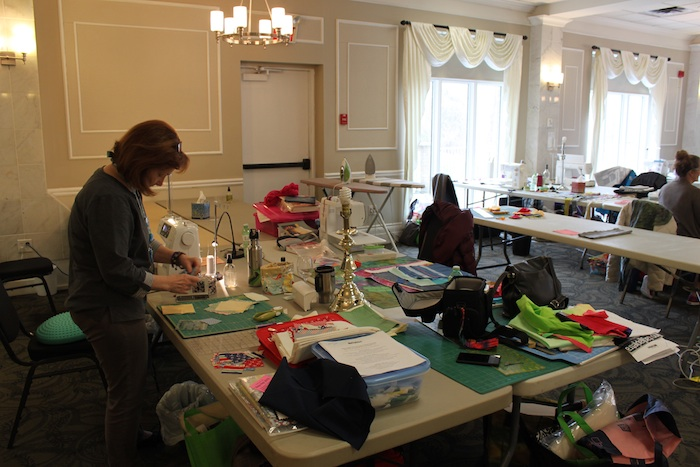 Work space - SWO Modern Quilt Retreat 2016