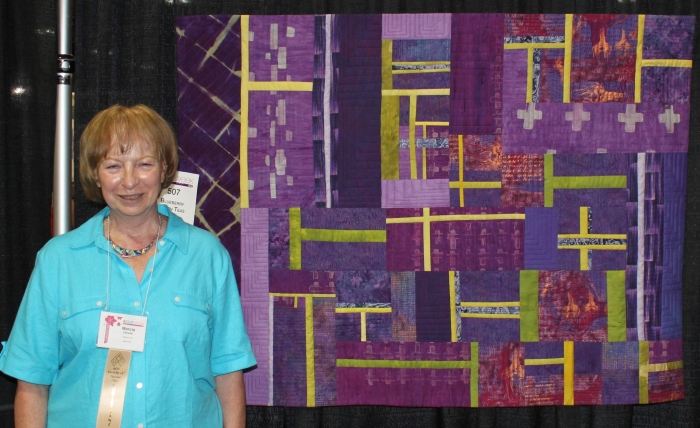 Blueberry Green Teas by Marcia DeCamp at the Syracuse quilt show