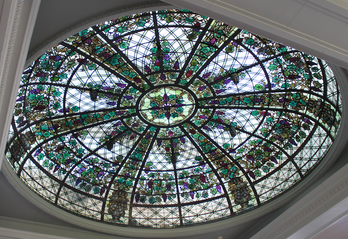 Casa Loma, Toronto, Ontario, cupola made with stained glass