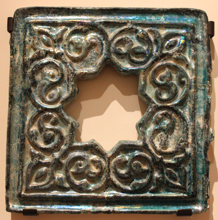 Oculus Syria, Late 12th-early 13th century Fritware, molded and glazed