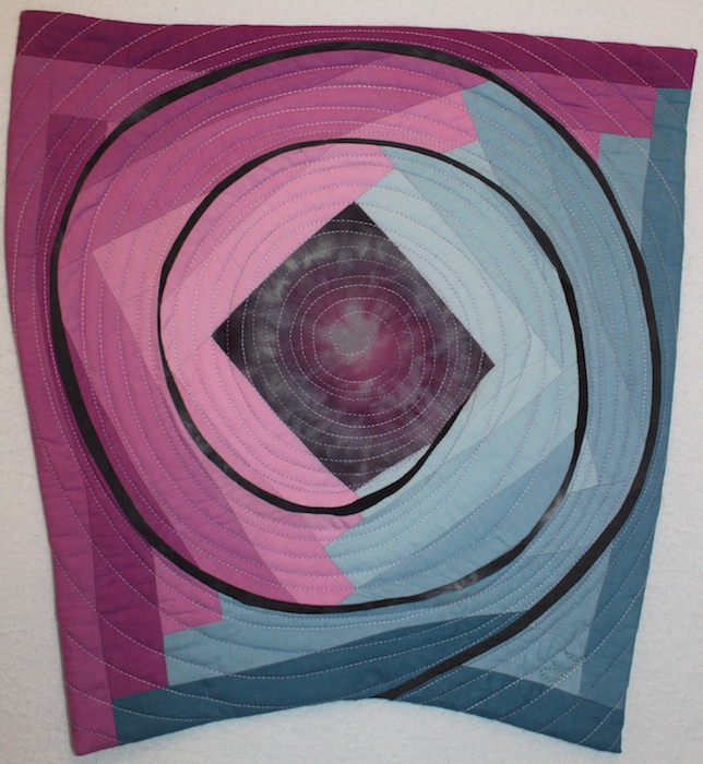 Spiral art quilt by doris lovadina-lee for crossing borders art quilters