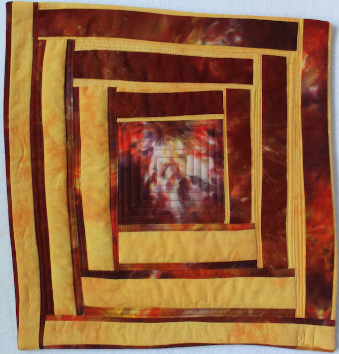 Doris Lovadina-Lee's Roots entry for the Crossing Borders Art Quilters: Foundation