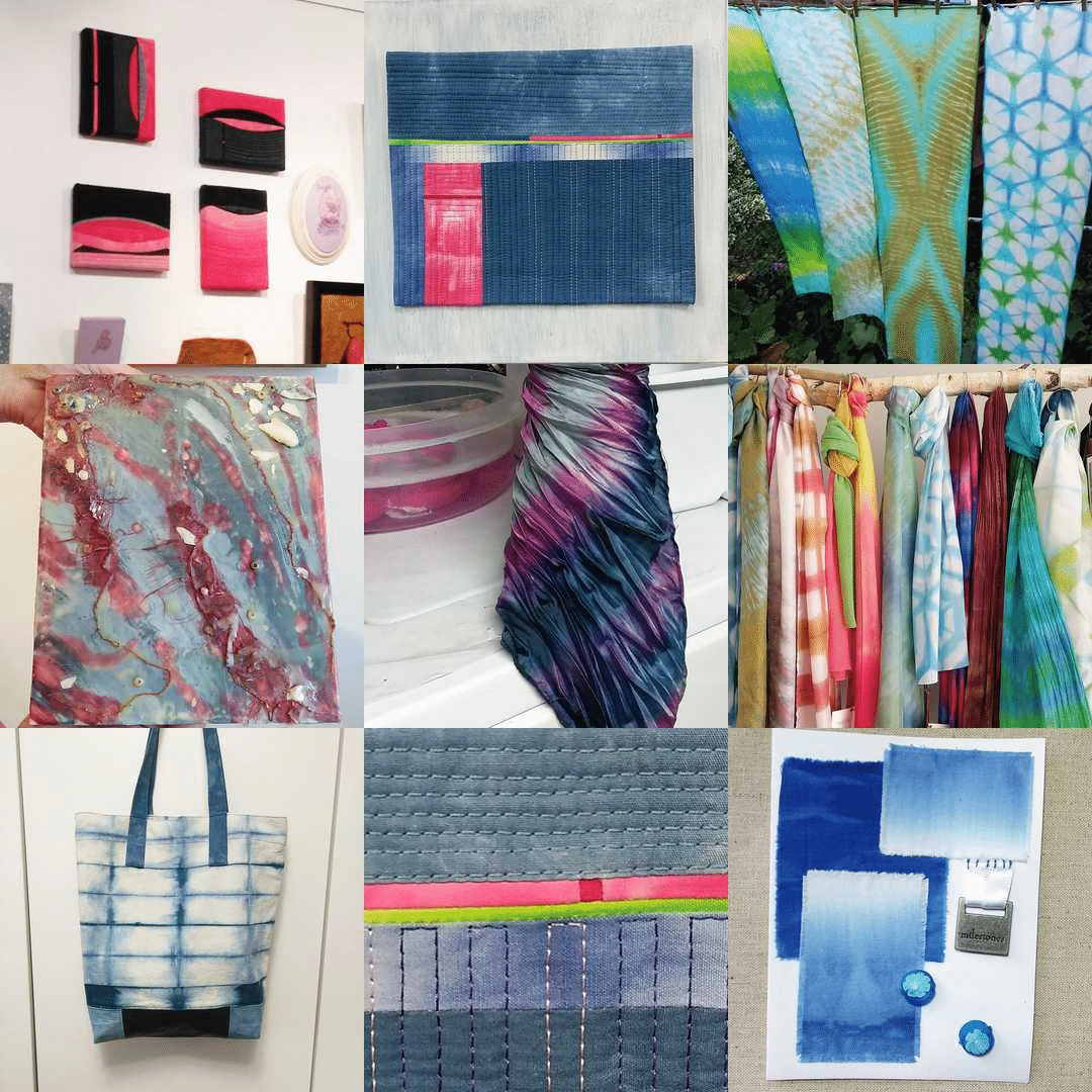 Best hand dyed scarves, best artwork, best quilts by doris lovadina-lee instagram best nine toronto ontario canada