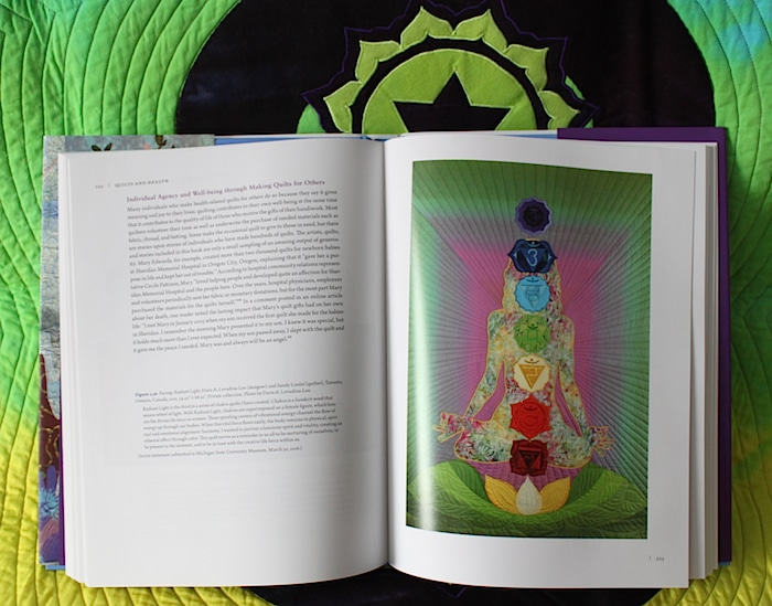 Radiant Light chakra quilt by doris lovadina-lee toronto artist in book quilts and health