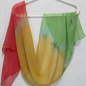 parfait shibori hand dyed silk chiffon scarves hand made by doris lovadina lee in toronto ontario canada