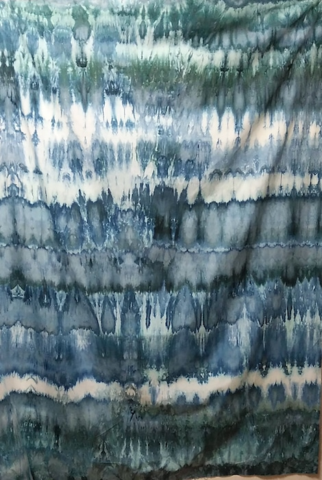 snow dyed quilting cotton pfd arashi shibori doris lovadina-lee