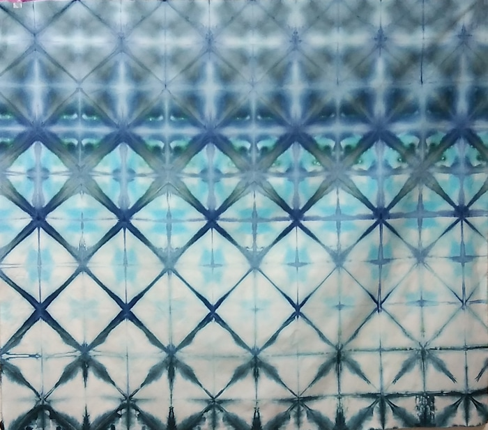 itajime shibori snow dyed cotton fabric toronto dorislovadinalee for sale