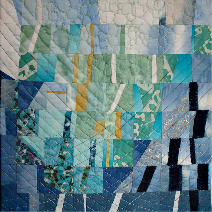 SAQA mini quilt challenge Summer - Over Ice quilt by Doris Lovadina-Lee