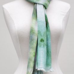snow dyed linen-rayon scarf one of a kind dorislovadinalee