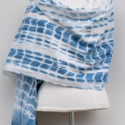 light cotton scarf dyed in indigo wrap yourself in elegance