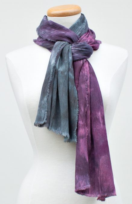 perfect travel scarf parfait dyed gray to purple dorislovaidnalee