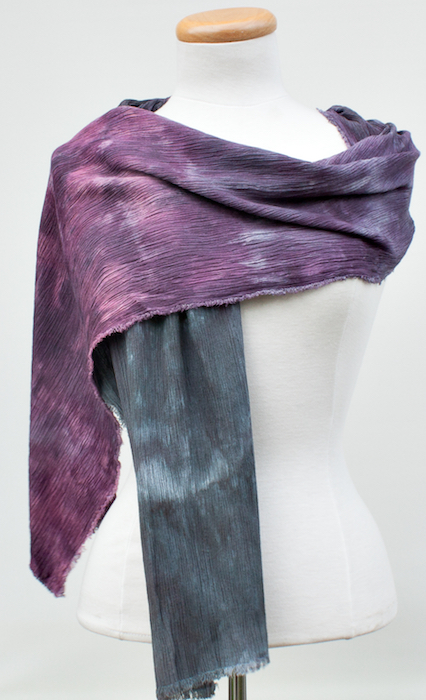 ombre dyed purple to grey shawl dorislovadinalee
