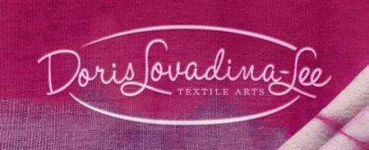 Colour logo for Doris Lovadina-Lee Textile Arts