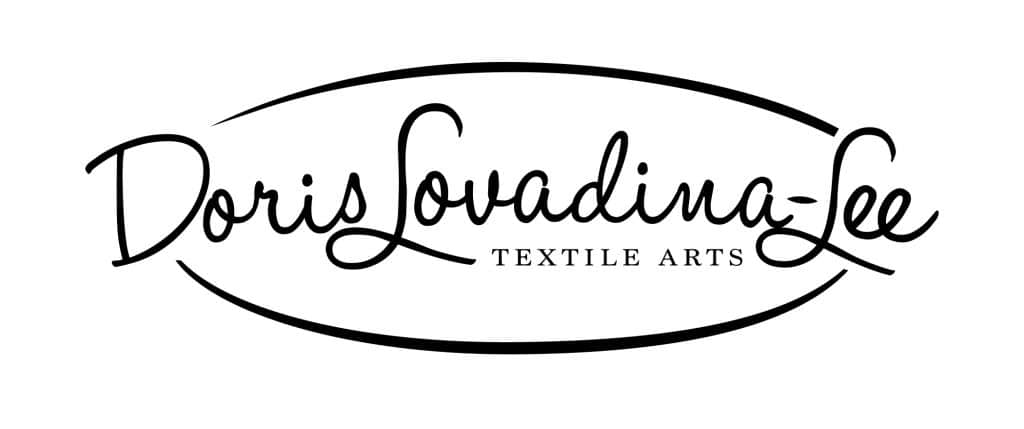 black and white logo Doris Lovadina-Lee Textile Arts
