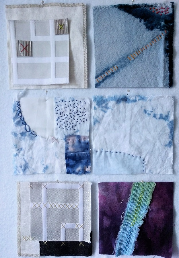6 five inch squares for the 12th month review